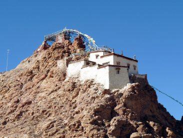 Chiu monastery near Manasarovar lake in Tibet