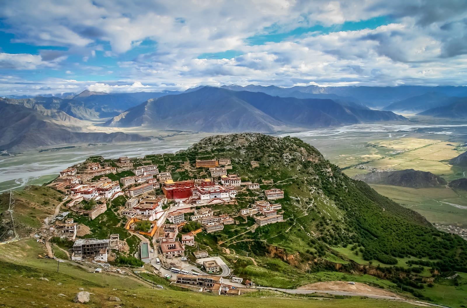 Ganden Monastery near Lhasa, Tibet