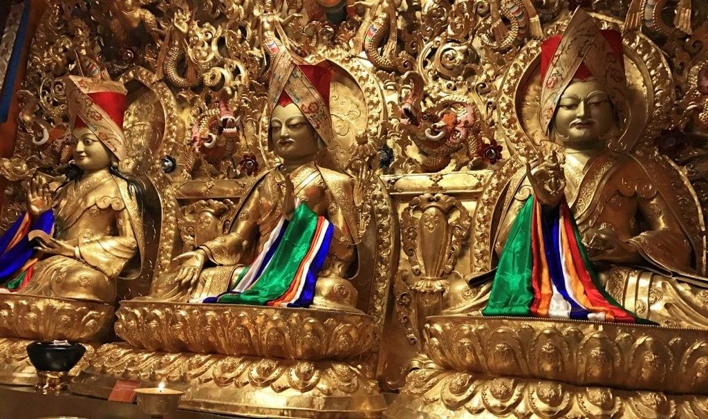 Inside the Sakya Order Monastery in Lhasa, Tibet