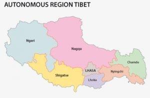 Regions of Tibetan Plateau