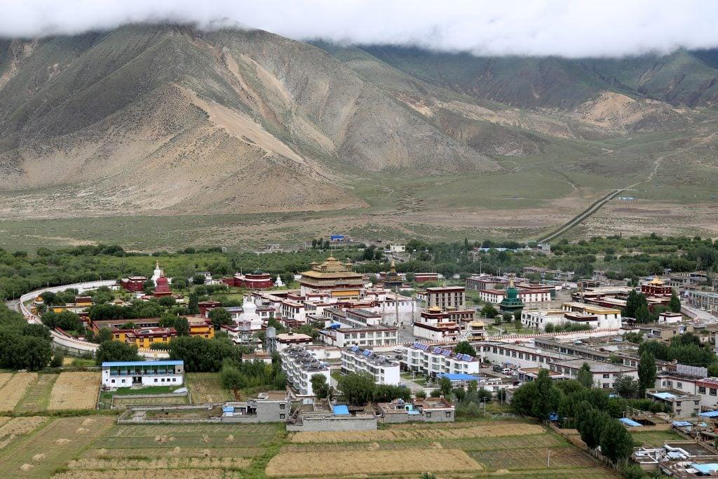 View on Samye monastery, Tibet