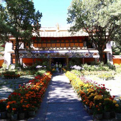 ChensalPodrang the residence of 13 Dalai Lama in Norbulingka