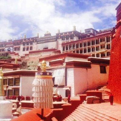 Ganden Monastery in Tibet