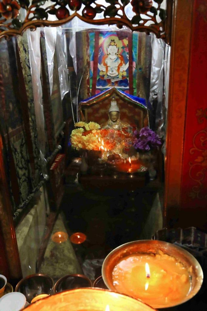 Meditation cave in Ani Tsamkhong Nunnery