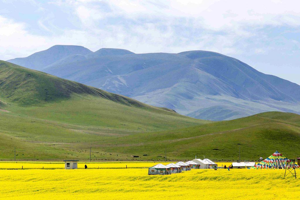 Qinghai Lake in Amdo, Tibet