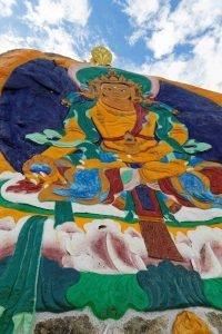 Rock Painting of Buddha of Longevity on Hepo Ri hill