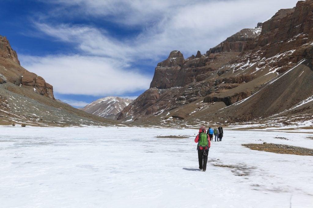 Walking the kora around Sacred Mountain Kailash in Tibet