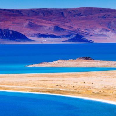 Lake Zhari Namco in Ngari Western Tibet