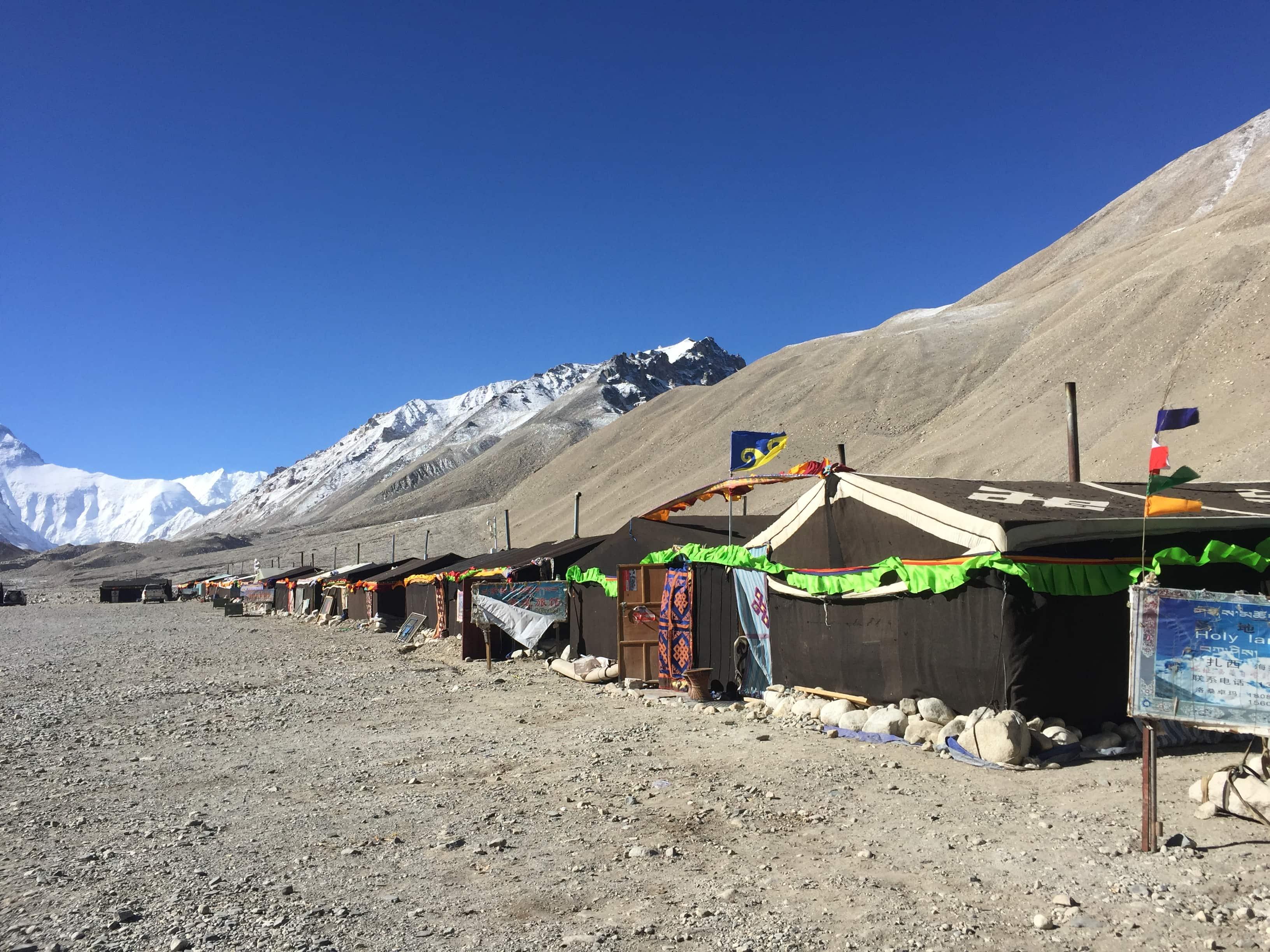 Everest Tent Camp in Tibet