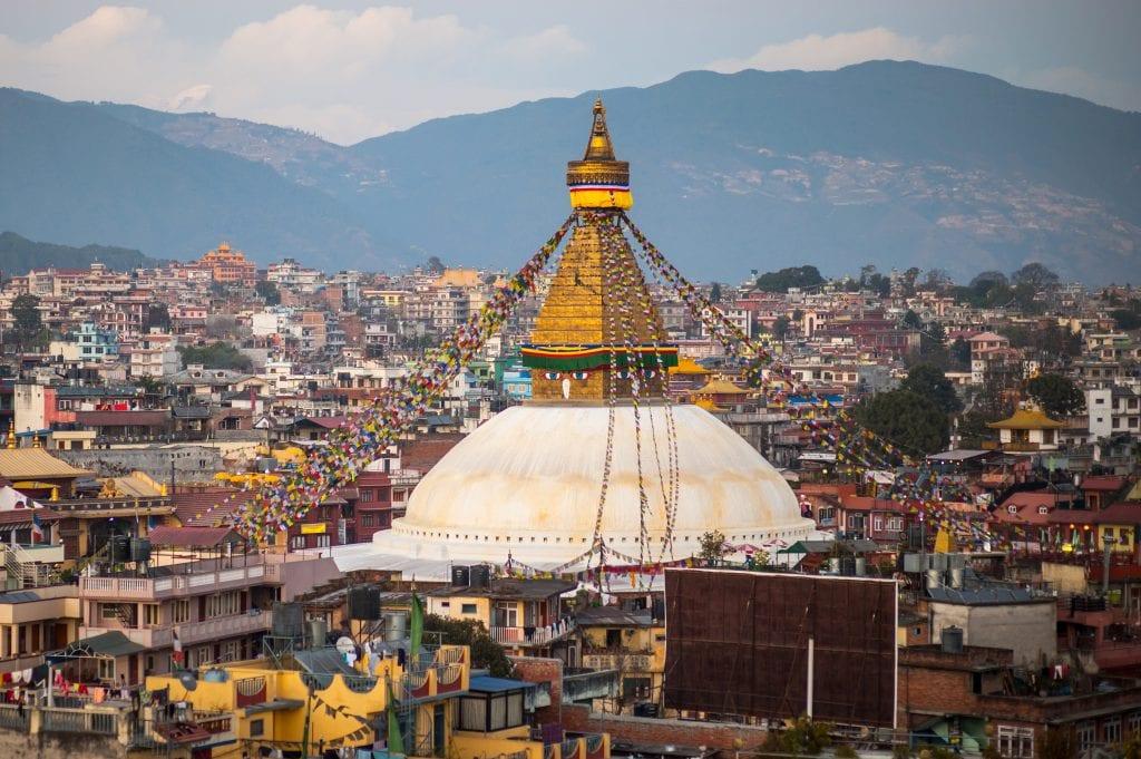 Ступа Бодханатха в Катманду, Непал
