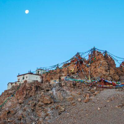 Chiu monastery near holy lake Manasarovar in Tibet