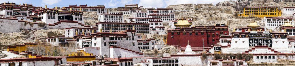 Ganden monastery near Lhasa in Tibet