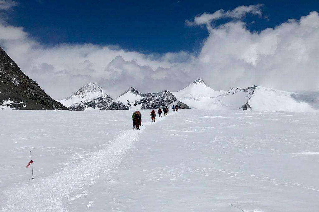 Trekking near Everest Base Camp in Tibet