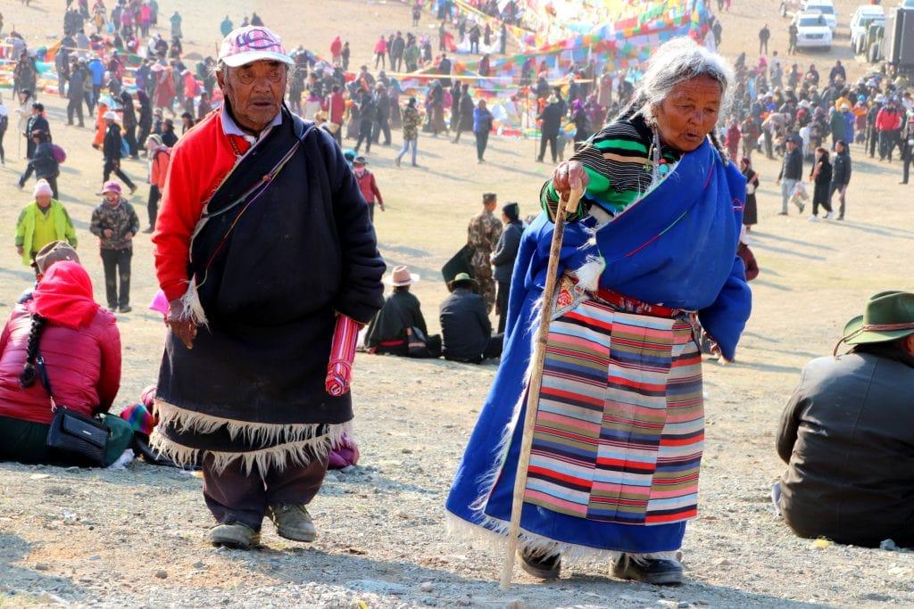 Pilgrims visiting Mount Kailash on Saga Dawa