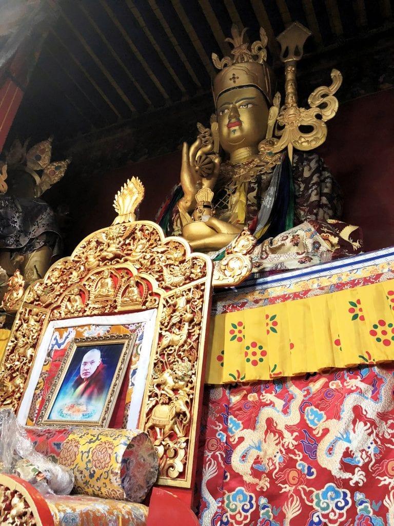 17th Karmapa Throne in Tsurpu monastery