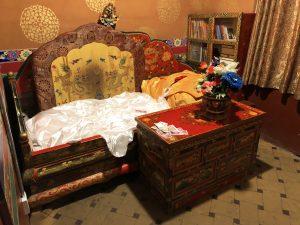 Bedroom of 17th Karmapa in Tsurpu Monastery