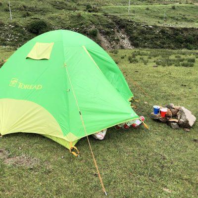 Break time during the trek