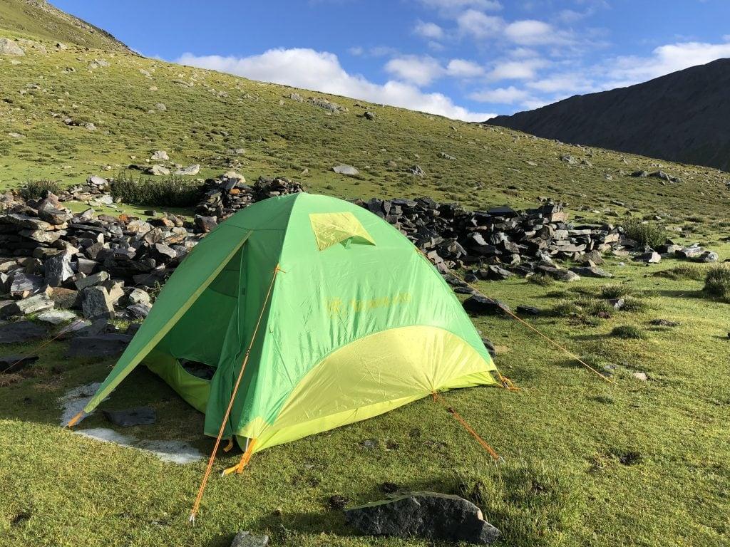 Campsite on the trek in Tibet