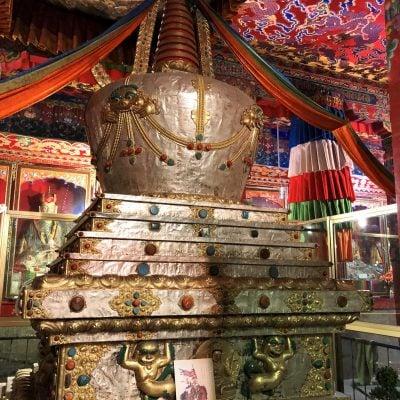 Golden tomb stupa in Tsurpu