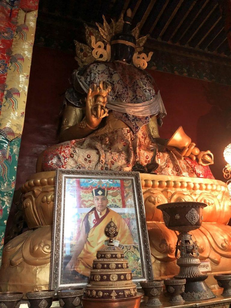 Portrait of 17 Karmapa in Tsurpu