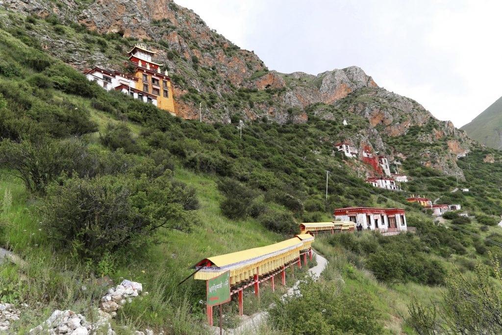 Prayer wheels in Drak Yerpa