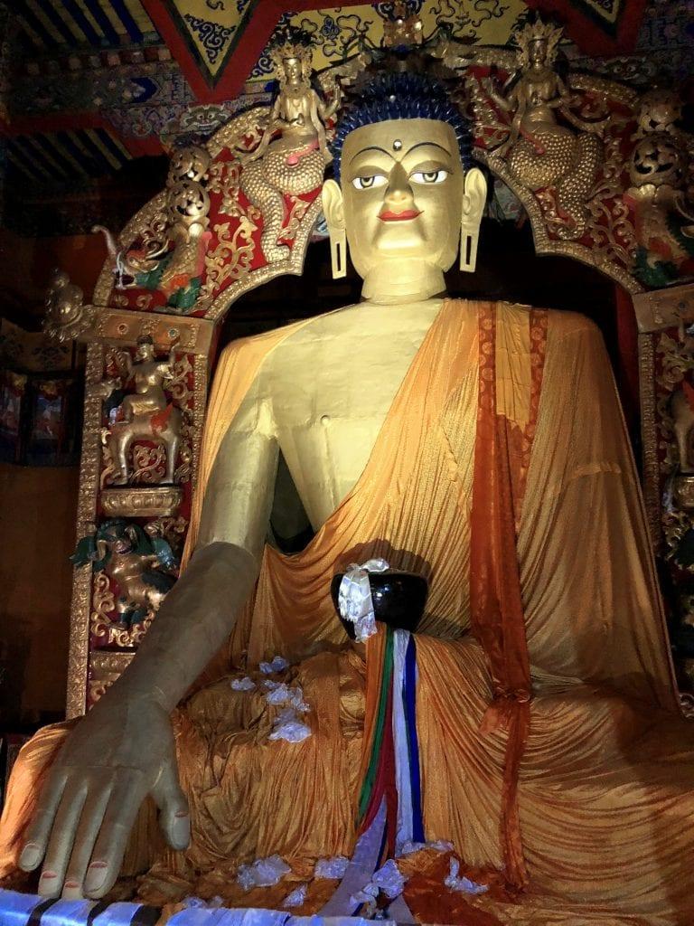 Shakyamuni Buddha Statue in Tsurpu monastery