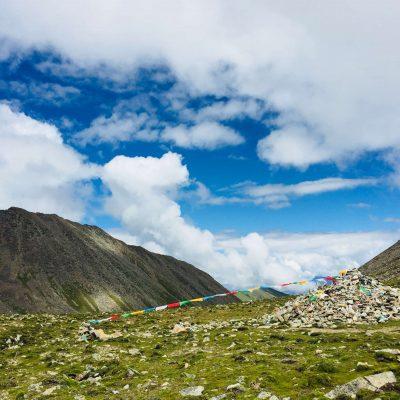 Shuga-la pass in Tibet