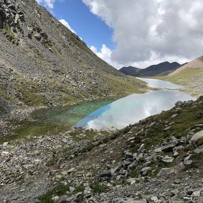 Two alpine lakes below Chitu-la Pass