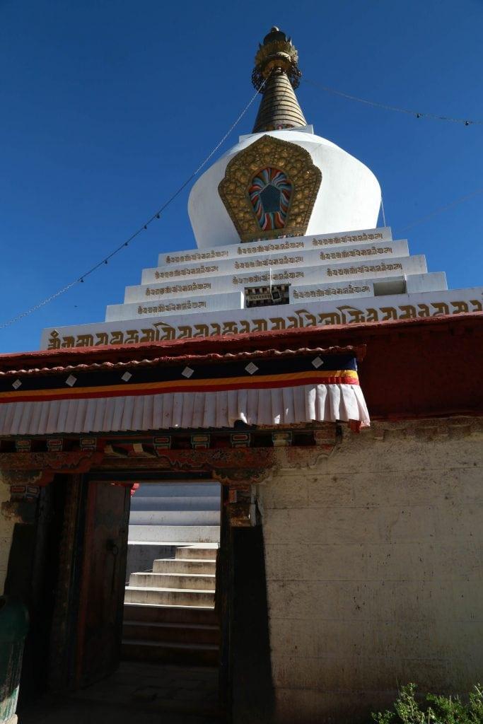 White stupa in Samye monastery