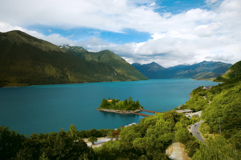 Basum lake in Eastern part of Tibet