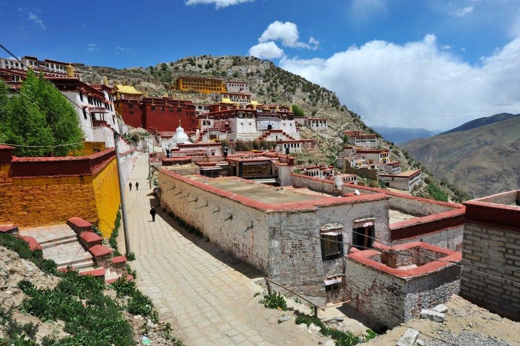 Ganden Monastery East from Lhasa in Tibet