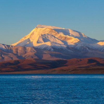 Gurla Mandhata Mountain by the Manasarovar lake in Tibet