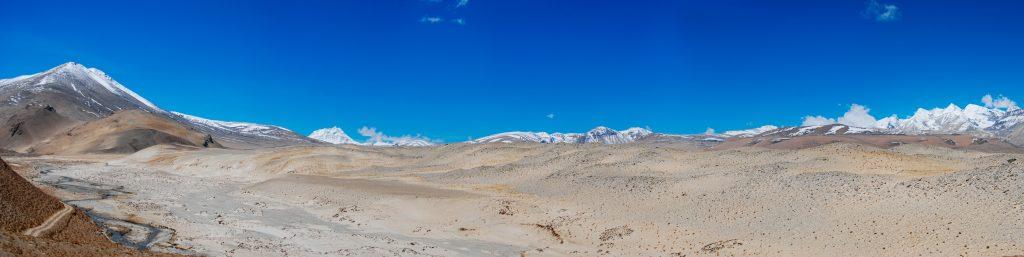 Himalayan Mountain range near Everest in Tibet