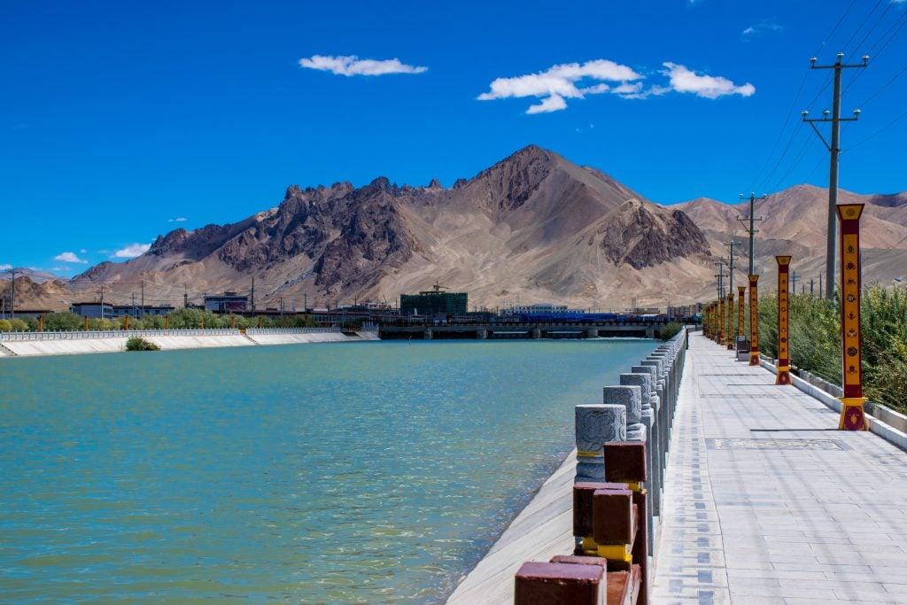 Indus river valley in Western Tibet