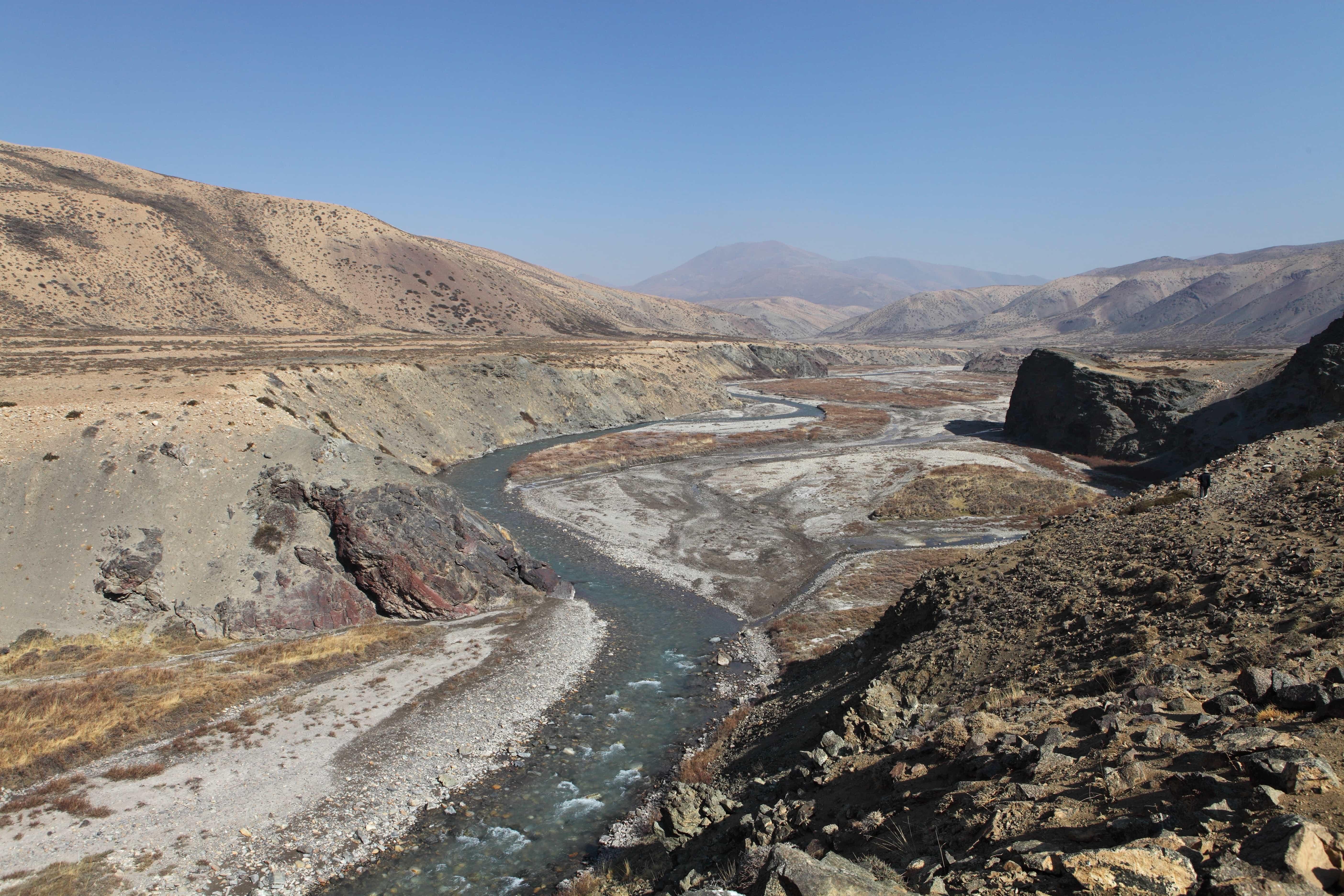 Karnali river in Tibet