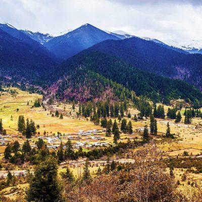 Lulang townin Eastern Tibet