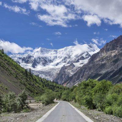 Midui Glacier in Nyingchi, Tibet