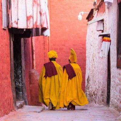 Monks in Tashilhunpo monastery in Shigatse