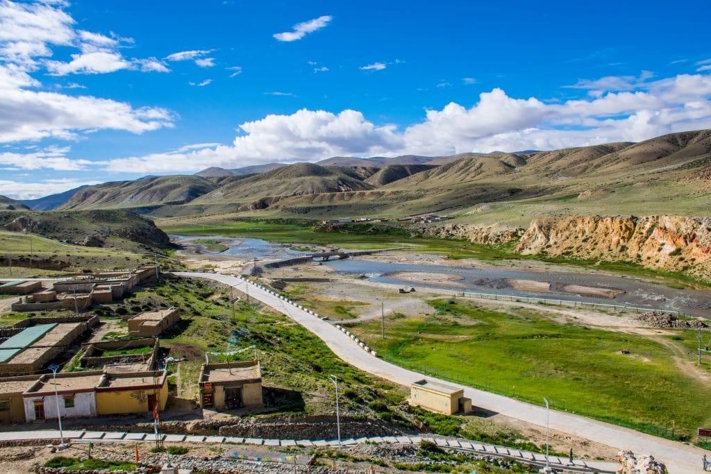 Sutlej river valley in Western Tibet