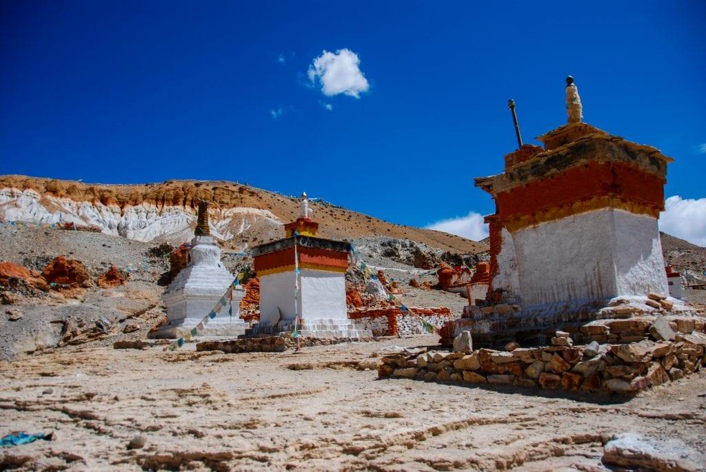 Tirthapuri Buddhist monastery near Sutlej river in Western Tibet