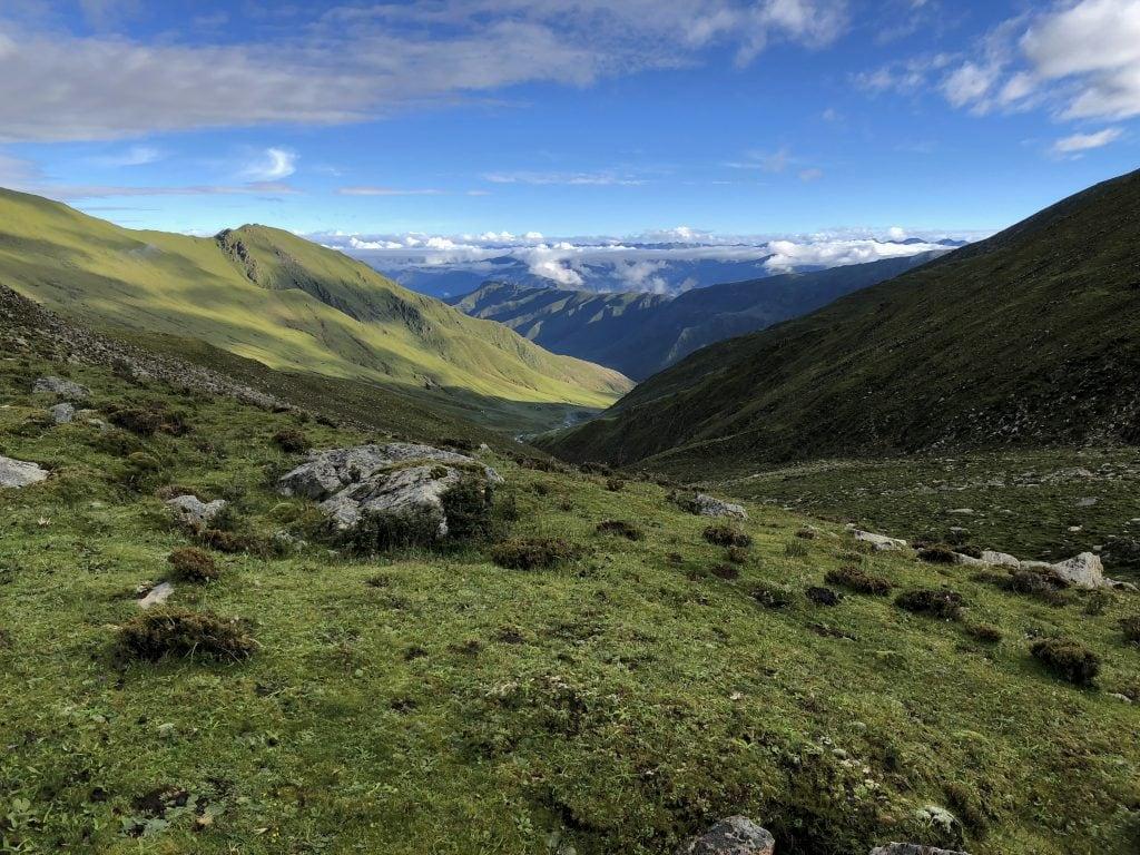 Trekking near Ganden