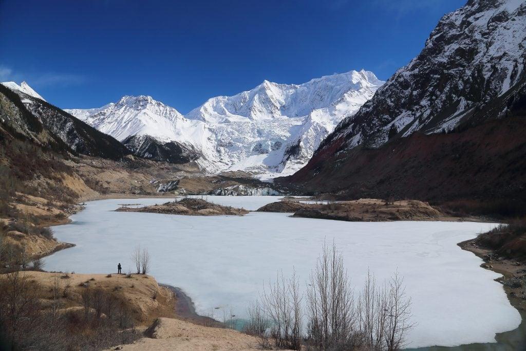 Meigui glacier in Bomi, Tibet