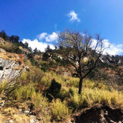 Landscape view near Tibet Nepal border