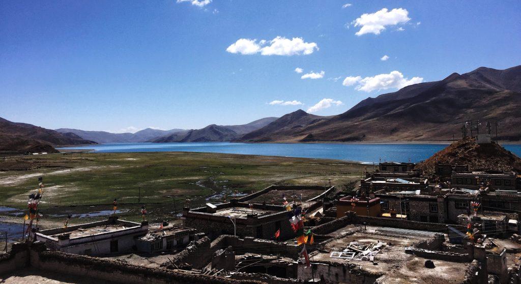 Palde nunnery near Yamdrok Lake in Tibet