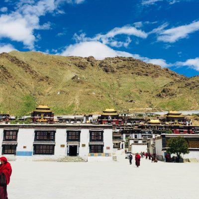 View on the Tashi Lhunpo monastery in Tibet