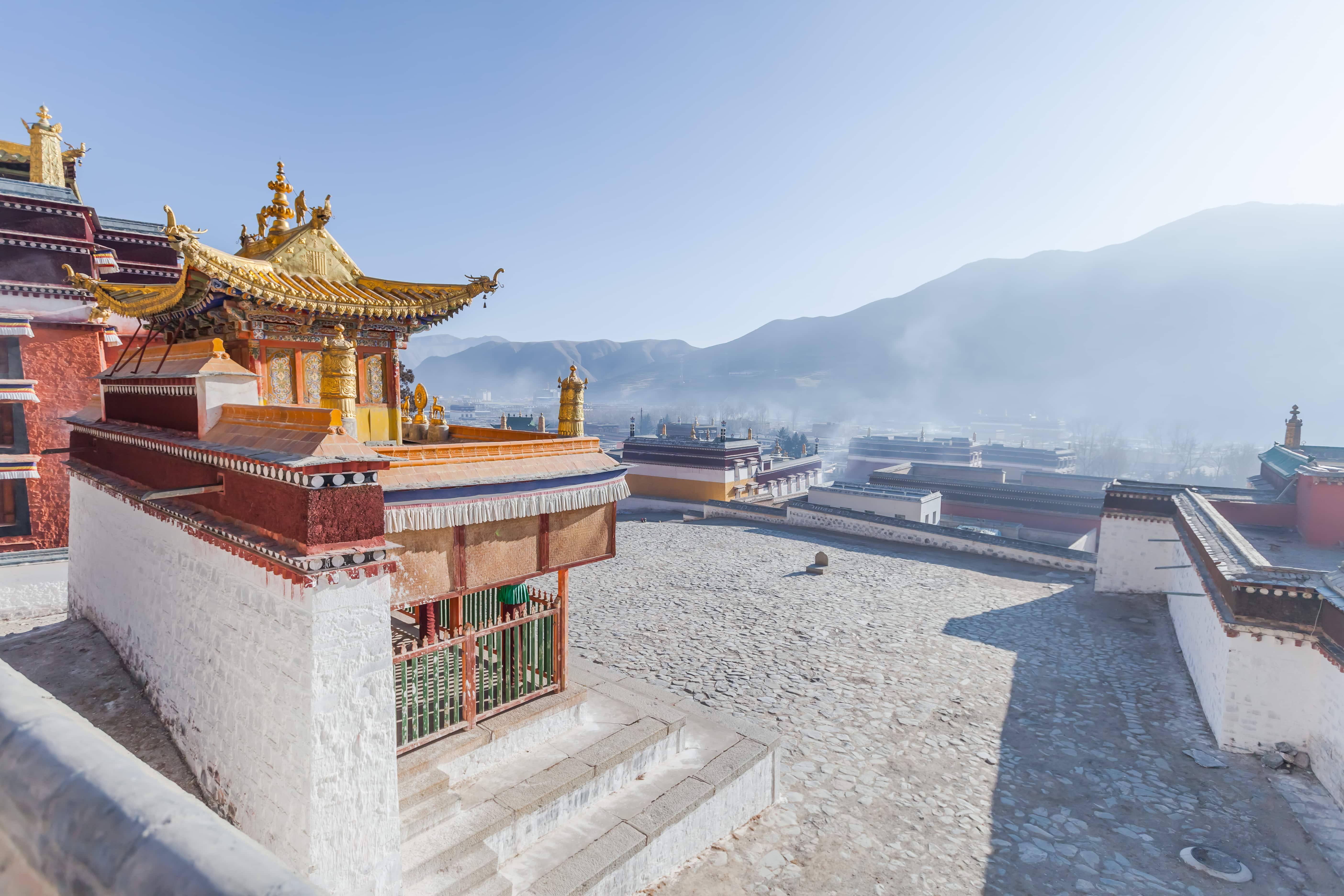 Labrang Monastery in Gansu, Amdo, Eastern Tibet