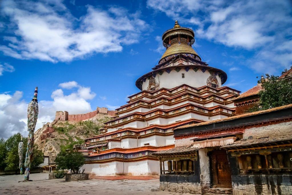 Nine storey Kumbum Stupa, the largest s