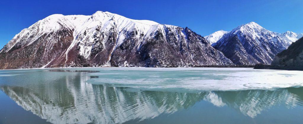Ranwu lake, an alpine lake in Eastern Tibet