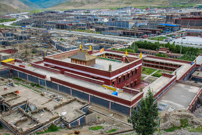 Sakya monastery and Town in Tibet