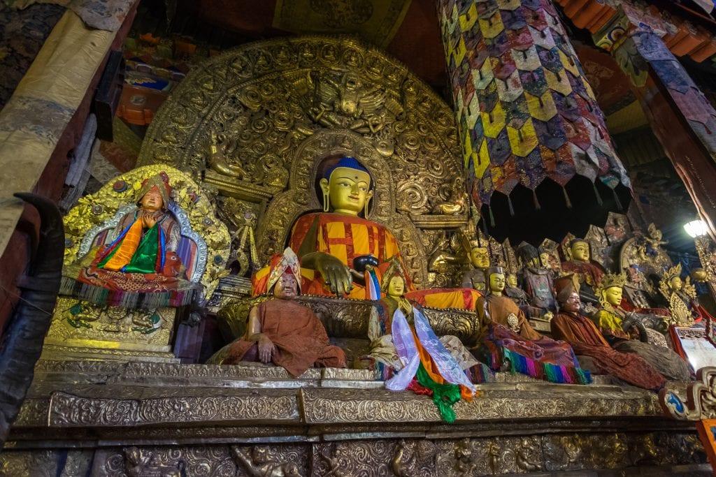 Shakyamuni Buddha statue in Sakya monastery, Tibet